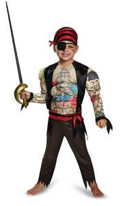 DISGUISE 84015M Pirate Toddler Muscle