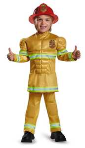 DISGUISE 84019L Fireman Toddler Muscle