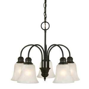 Design House 519322 5 Light Ridgeway Chandelier Oil Rubbed Bronze