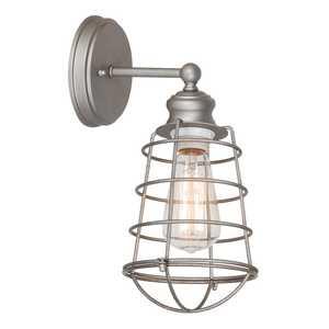 Design House 519702 1-Light Galvanized Ajax Wall Mount Light Fixture