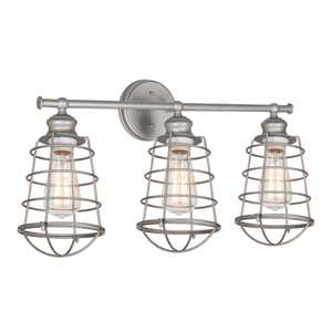 Design House 519728 3 Light Ajax Vanity Light Galvanized
