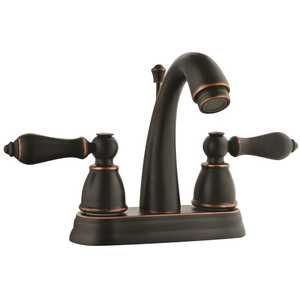 Design House 523340 4 in 2 Handle Hathaway Lavatory Faucet Oil Rubbed Bronze