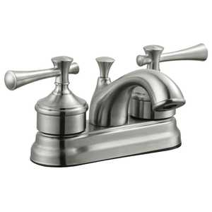 Design House 524546 4-Inch Satin Nickel Ironwood Centerset Bathroom Faucet