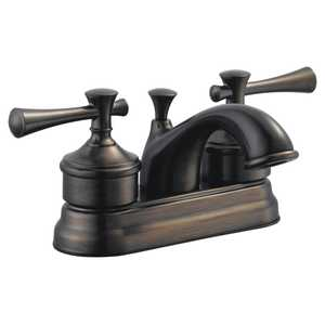 Design House 524561 4 in 2 Handle Ironwood Lavatory Faucet Brushed Bronze