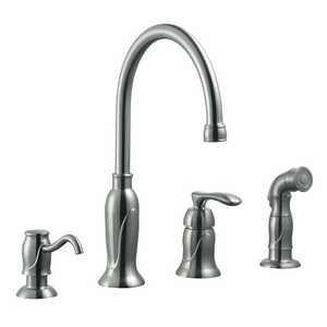 Design House 525808 Madison Kitchen Faucet Satin Nickel