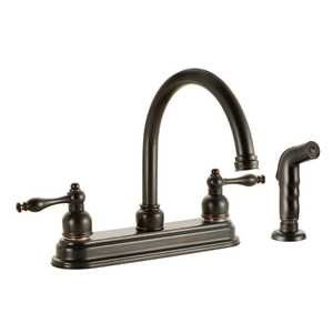 Design House 527499 Saratoga Kitchen Faucet with Sprayer Oil Rubbed Bronze