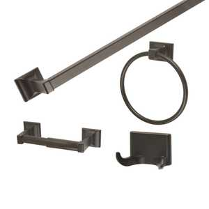 Design House 560854 4-Piece Millbridge Oil Rubbed Bronze Bath Kit