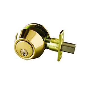 Design House 727438 Gateway Single Cylinder Deadbolt Polished Brass
