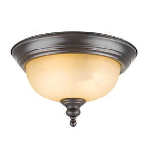 Design House 504399 Ceiling Mount 2-Light Bristol Orb