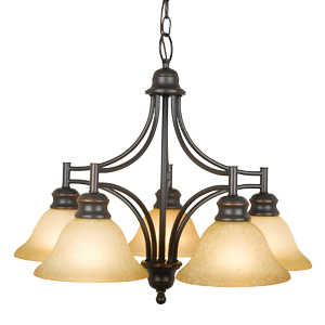 Design House 504167 Chandelier 5-Light Bristol Orb