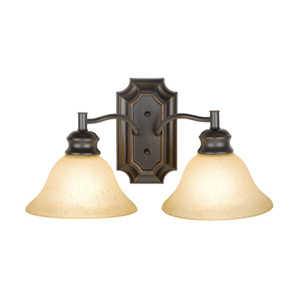 Design House 504407 Sconce Wall 2-Light Bristol Orb