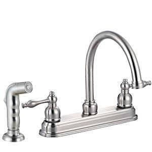 Design House 528059 Kitchen Faucet Saratoga Satin Nickel