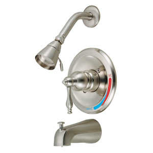 Design House 529230 Tub/Shower Sgl Hndl Saratoga Satin Nickel