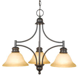 Design House 504175 Chandelier 3-Light Bristol Orb