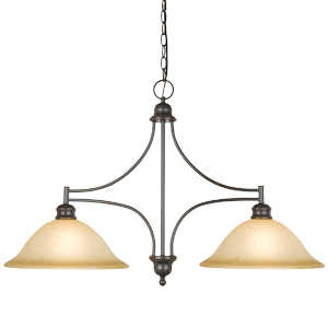 Design House 504258 Light Island 2-Light Bristol Orb