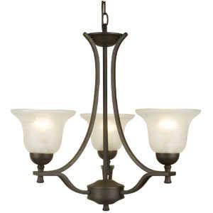 Design House 509190 Chandelier 3-Light Ironwood