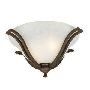 Design House 509224 Ceiling Mount Flush 2-Light Ironwood