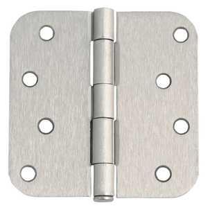 Design House 202572 4 in X 4 in 5/8 Radius Corner Door Hardware Hinge Satin Nickel