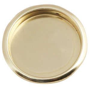 Design House 202770 Pull Finger Closet 21/8 Polished Brass