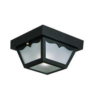 Design House 502872 Ceiling Mount Outdoor Poly Black