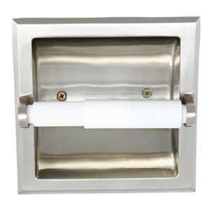 Design House 539189 Millbridge Satin Nickel Recessed Toilet Paper Holder