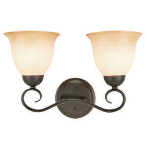 Design House 512640 Sconce Wall 2-Light Cameron Orb Tm