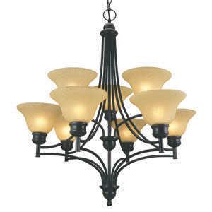 Design House 512855 Chandelier 9-Light Bristol Orb