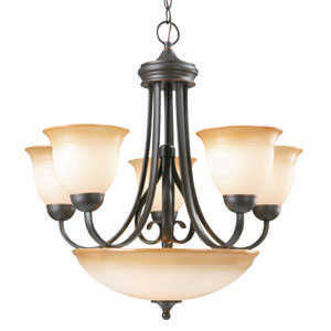 Design House 512624 Chandelier 5-Light Cameron Orb