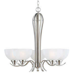 Design House 512483 Chandelier 5-Light Trevie Satin Nickel