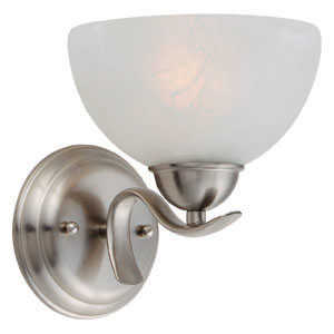 Design House 512517 Sconce Wall 1-Light Trevie Satin Nickel