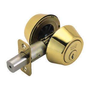 Design House 781005 Deadbolt Double Cylinder Polished Brass