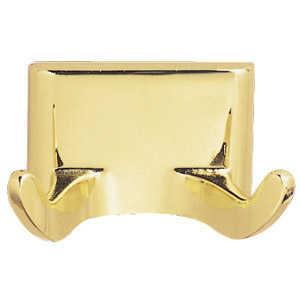 Design House 533307 Millbridge Polished Brass Double Robe Hook