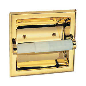Design House 533372 Polished Brass Millbridge Recessed Toilet Paper