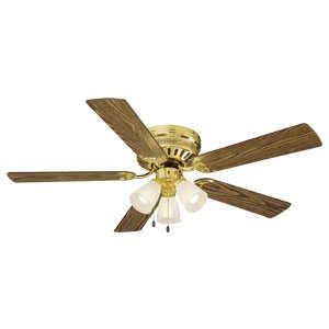 Design House 156604 52-Inch Millbridge Hugger Ceiling Fan Polished Brass