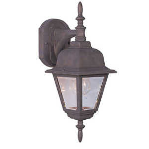 Design House 511469 1-Light Washed Copper Maple Street Outdoor Down Light Wall Fixture