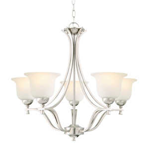 Design House 515544 5-Light Satin Nickel Ironwood Chandelier