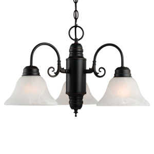Design House 514463 Chandelier 3-Light Millbridge Orb