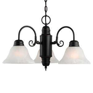 Design House 514463 3-Light Oil Rubbed Bronze Millbridge Chandelier