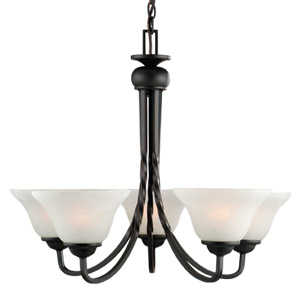 Design House 514885 Chandelier 5-Light Drake Orb