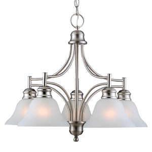 Design House 510255 Chandelier 5-Light Bristol Satin Nickel