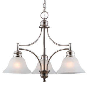 Design House 510321 Chandelier 3-Light Bristol Satin Nickel