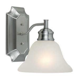 Design House 516666 Sconce Wall 1-Light Bristol Satin Nickel
