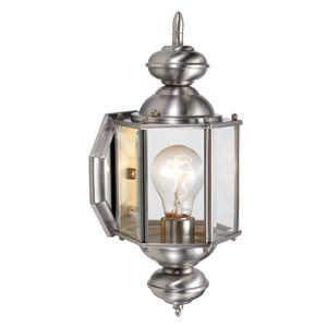 Design House 514869 Uplight Outdoor Sm Augusta Satin Nickel