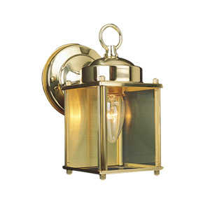 Design House 502633 Downlight Outdoor 1-Light Coach Polished Brass