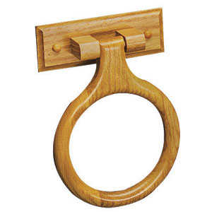 Design House 534404 Honey Oak Towel Ring