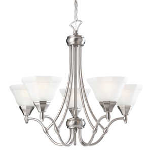 Design House 517987 Chandelier 5-Light Barcelona Satin Nickel