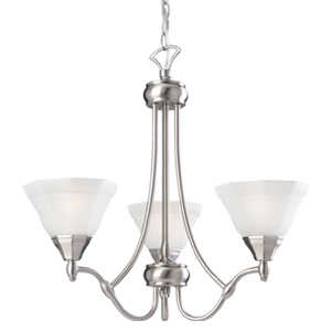 Design House 517995 Up Chandelier 3-Light Barcelona Satin Nickel