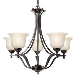 Design House 517748 Chandelier 5-Light Ironwood Brushed Bronze