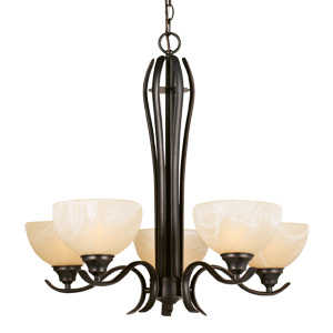 Design House 517490 Chandelier 5-Light Trevie Orb