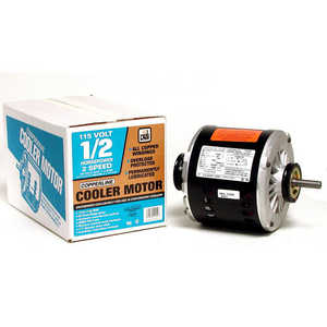 Dial Mfg 2204 Motor 1/2hp 2-Speed Copperline